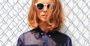 white-sunglasses-casusal-style-girl-with-medium-short-hair-bob-cool-button-up-shirt-tom-boy-style-600x325