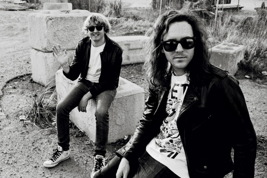 Brisbane band DZ Deathrays in black and white