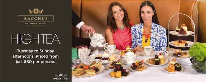 Get a little fancy with High Tea at Bacchus