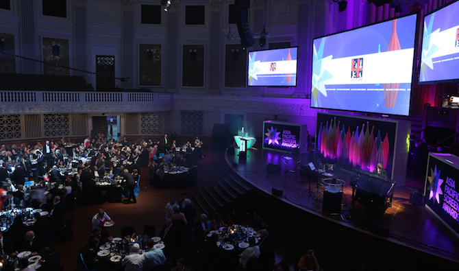 Asia Pacific Screen Awards (APSA) at the Brisbane City Hall, Brisbane, Queensland, Australia, Thursday, November 26, 2015. The Asia Pacific Screen Awards (APSA) recognise and promote the cinematic excellence and cultural diversity of the vast Asia Pacific region. (Photo by 275022000002 for Asia Pacific Screen Awards (APSA))