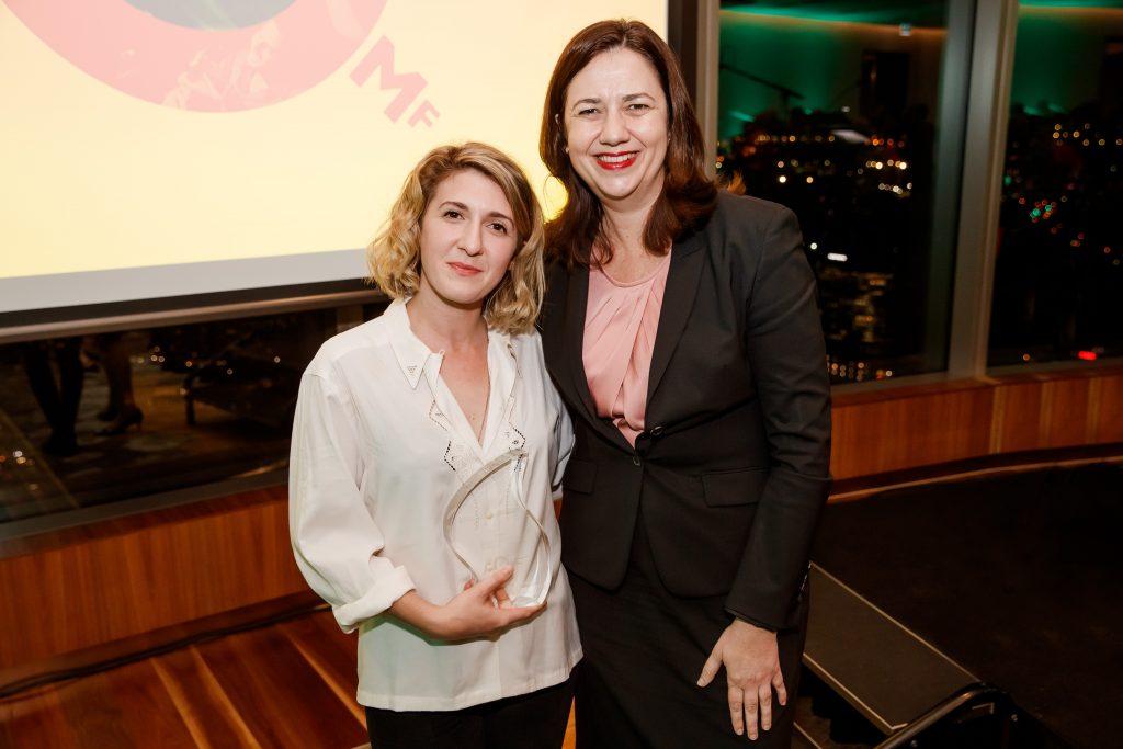 Carol Lloyd Award Winner Georgia Potter, The Honourable Annastacia Palaszczuk MP Premier of Queensland
