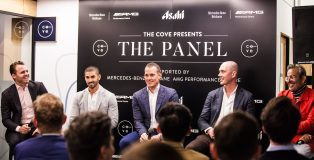 Speaker panel at the Cove event