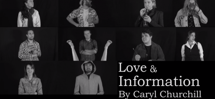 Lisa O'Neill on directing Love and Information coming to Metro Arts