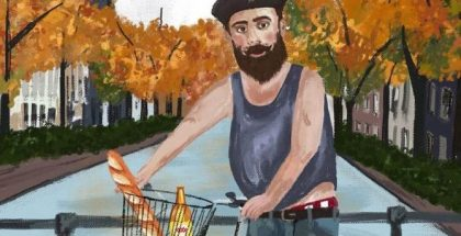 Milton Man Gogh artwork by Chloe McAlister