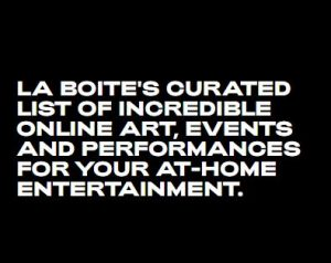 La Boite Theatre advert for online art