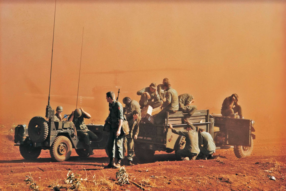 Soldiers in warzone